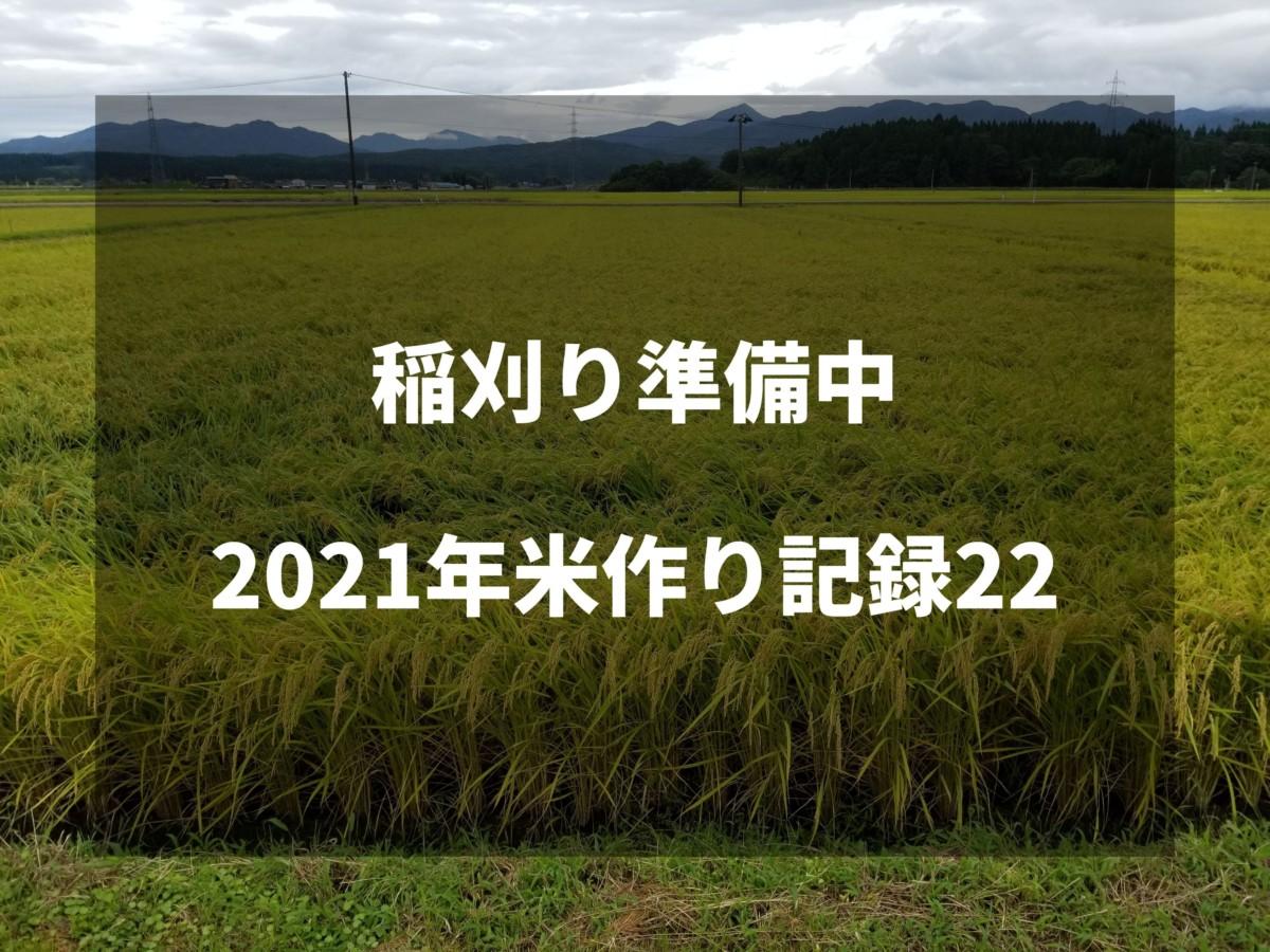 稲刈り準備中 2021米作り記録22